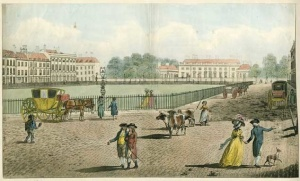 Bloomsbury Square in the C18th from www.bloomsburysquares.org.uk